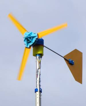 picture about 3d Printable Wind Turbine called Reprap-Windturbine: Household